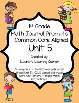 1st Grade Math Journal Prompts - Unit 5 - Investigations