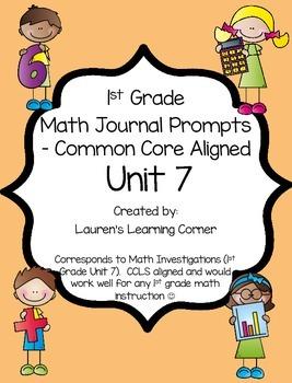 1st Grade Math Journal Prompts - Unit 7 - Investigations