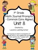 1st Grade Math Journal Prompts - Unit 8 - Investigations
