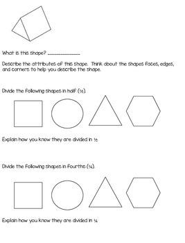 1st Grade Math Journal Prompts - Unit 9 - Investigations