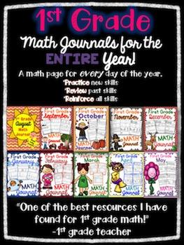 1st Grade Math Journals All Year!
