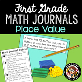 1st Grade Math Journals and Rubric - Place Value and Comparing