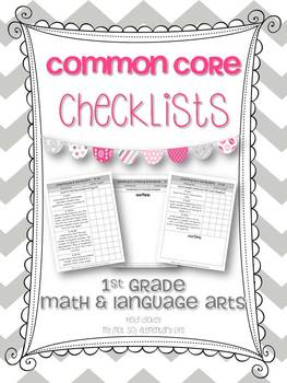 1st Grade Math & Language Arts Common Core Checklists