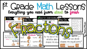 1st Grade Math Lessons: Fractions