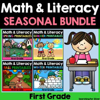 1st Grade Math & Literacy No-Prep {For All Seasons}
