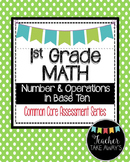 1st Grade Math Measurement Data 1.MD Geometry 1.G Common Core Assessments