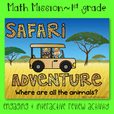 1st Grade Math Mission - Escape Room - Safari Mystery End of Year Review