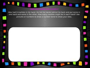 1st Grade Math Module Unit 1 Application Problem Bundle
