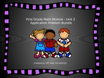 1st Grade Math Module Unit 2 Application Problem Bundle