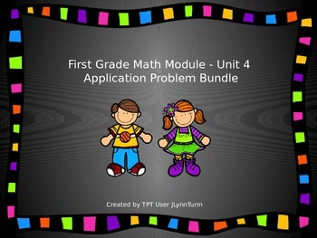 1st Grade Math Module Unit 4 Application Problem Bundle