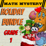 1st Grade Easter, St Patrick's Day Math Activities + 10 More Math Mysteries