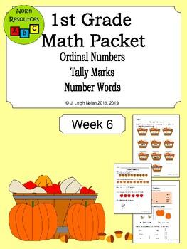 Ordinal Numbers & Tally Marks Packet - Week 6