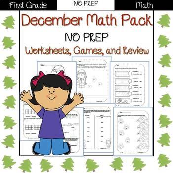 First Grade Math Pack {December}