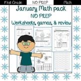 First Grade Math Pack {January}