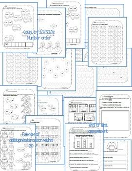 First Grade Math Pack {January}