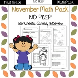First Grade Math Pack {November}