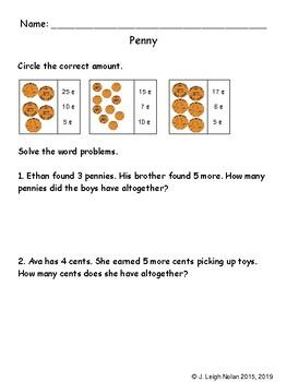 Pennies Math Packet - Week 14 - Christmas Theme
