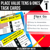 Place Value Tens and Ones Task Cards 1st Grade Math Centers