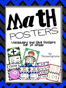 1st Grade Math Posters