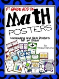 1st Grade Math Posters ADD ON!!