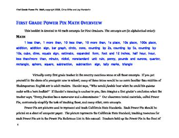 1st Grade Math Power Pix