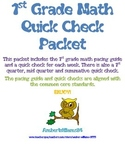 1st Grade Math Quick Check Packet