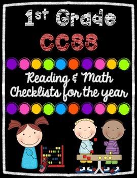 1st Grade Math & Reading CCSS Checklists