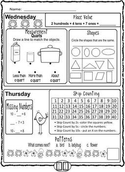 1st Grade Math Review