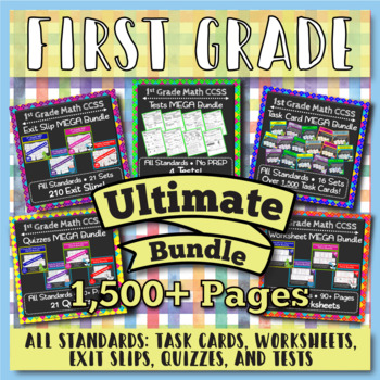 1st Grade Math Curriculum Bundle: 1st Grade Math Review, Yearlong Math Bundle