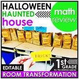 1st Grade Math Review   Halloween Classroom Transformation