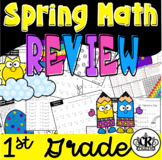 1st Grade Math Review Packet with Spring Theme