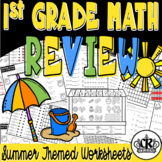 1st Grade Math Review Packet with Summer Theme