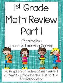 1st Grade Math Review - Part 1 - Common Core Aligned