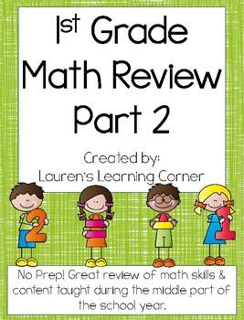 1st Grade Math Review - Part 2 - Common Core Aligned