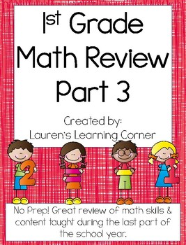 1st Grade Math Review - Part 3 - Common Core Aligned