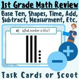 1st Grade Math Review Scoot