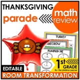 1st Grade Math Review | Thanksgiving Classroom Transformation