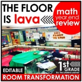 1st Grade Math Review   The Floor is Lava Room Transformation