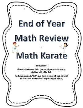 1st Grade Math Review for End of Year: Fun Math Karate!