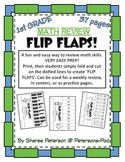 1st Grade Math Review with FLIP FLAPS