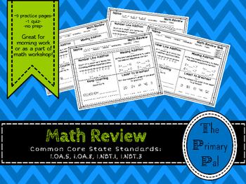 1st Grade Common Core Math Review: Set 1
