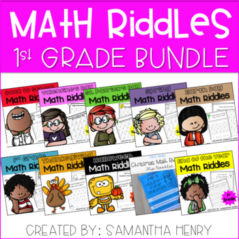 1st Grade Math Riddles BUNDLE