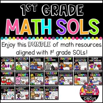 1st Grade Math SOLs Bundle