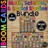 1st Grade Math, Science, Social Studies Boom Cards™ BUNDLE