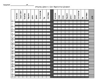 1st Grade Common Core Math See and Do and Place Value Brain Busters Bundled Set