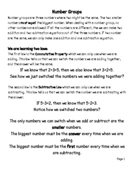 1st Grade Math Series - Number Groups