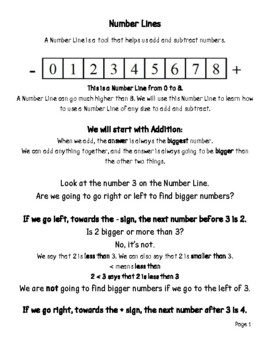 1st Grade Math Series - Number Lines