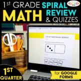 1st Grade Math Spiral Review   Google Classroom Distance L