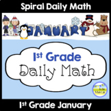 1st Grade Math Spiral Review JANUARY Morning Work or Warm ups