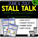 1st Grade Math Spiral Review Posters- June & July Stall Talk